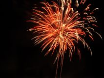 Red pyrotechnics Royalty Free Stock Image