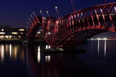 Red Python Bridge Royalty Free Stock Image
