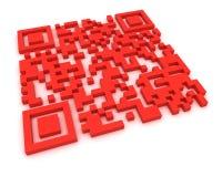 Red QR-code Stock Photo