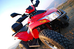 Red quad diagonally Royalty Free Stock Images