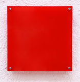 Red quadrate with pink frame Royalty Free Stock Photo