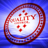 Red quality control stamp Stock Photo