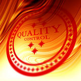 Red quality control stamp Royalty Free Stock Photography