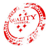 Red quality control stamp vector illustration