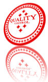 Red quality control stamp Royalty Free Stock Image
