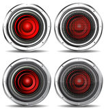 Red quality speaker Royalty Free Stock Photos