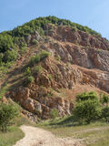 Red quarry. On sunny day Royalty Free Stock Photography