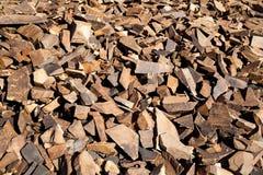 Red Quartzite Rocks Talus Slope Stock Images