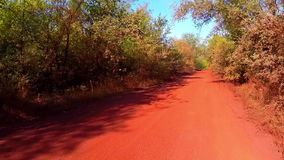 Red quartzitic road stock footage