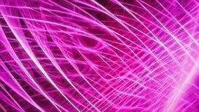Red que brilla intensamente de la energía rosada abstracta Imagenes de archivo