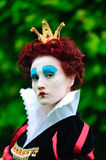 Red Queen. From a fairy tale Alice in Wonderland Stock Photos
