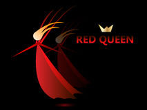 The red queen. In the dark and reflection Stock Photos