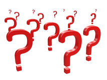 Red question Stock Photo