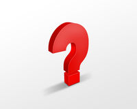 Red question mark Stock Images