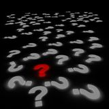 Red question mark Stock Photography