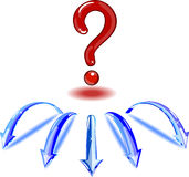 Red question mark. Stock Photo