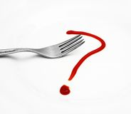 Red question mark Stock Image