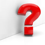 Red question mark in 3D Royalty Free Stock Photo
