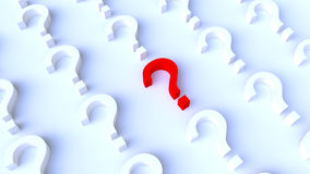Red Question Mark Background Stock Images