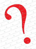 Red question mark  background. An illustration of red and grey question mark background Royalty Free Stock Photos