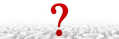 Red question mark background. 3d render Royalty Free Stock Photography