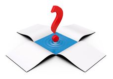 Red question mark in the box Royalty Free Stock Photography