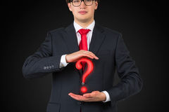 Red question mark Royalty Free Stock Photo