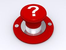Red question mark button Royalty Free Stock Photos