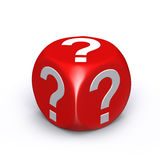 Red question mark dice Royalty Free Stock Photo