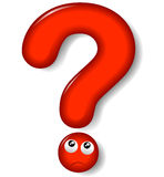 Red question mark. Illustration of red question mark on white background Stock Photography