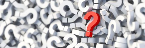 Red question mark stock photos