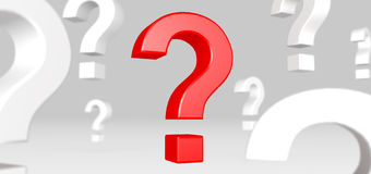 Red question mark standing out Royalty Free Stock Photo