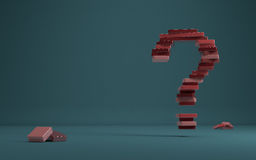 Red question Royalty Free Stock Photos