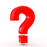 Red question mark Royalty Free Stock Photos