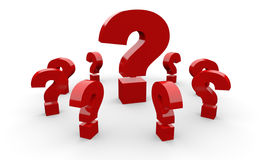 Red question marks Royalty Free Stock Photo