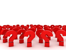 Free Red Question Marks With Empty Space Above Over White Stock Image - 45039571