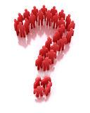 Red Question Of People Stock Photography