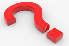 Red question sign Royalty Free Stock Photo