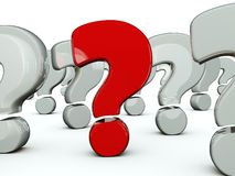 Red question symbol Stock Photos
