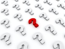 Red question symbol sign in white others Stock Images