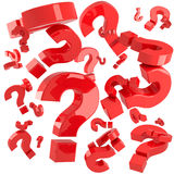 Red questions Royalty Free Stock Photos