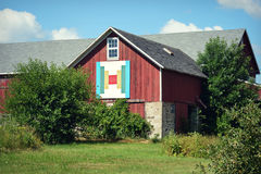 Red Quilt Barn Stock Photo