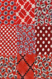 Red quilt pattern. My handmade red quilt pattern Royalty Free Stock Photos