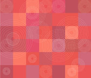 Red quilt pattern. With circles vector illustration