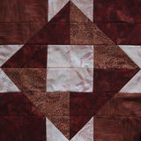 Red Quilt Square Royalty Free Stock Photos