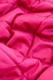 Red quilted fabric Royalty Free Stock Images