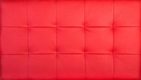 Red Quilted Leather Royalty Free Stock Photos
