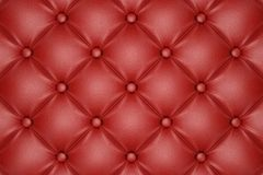 Red quilted leather pattern. 3D render of the red quilted leather pattern Stock Image