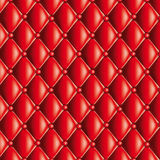 Red quilted texture Royalty Free Stock Photography