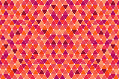 Red Quincunx Seamless Triangle Pattern Royalty Free Stock Images